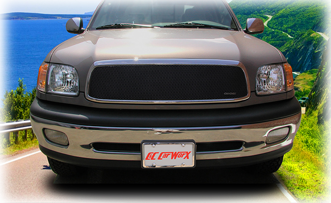 C&C CarWorx offers this aftermarket Upper Grille Insert for 2000-2002 Toyota Tundra models in black by Grillcraft.