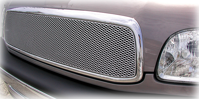C&C CarWorx offers this aftermarket Upper Grille Insert for 2000-2002 Toyota Tundra models in silver by Grillcraft.