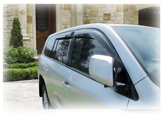 Tape On Outside Mount Window Visors Rain Guards Shades