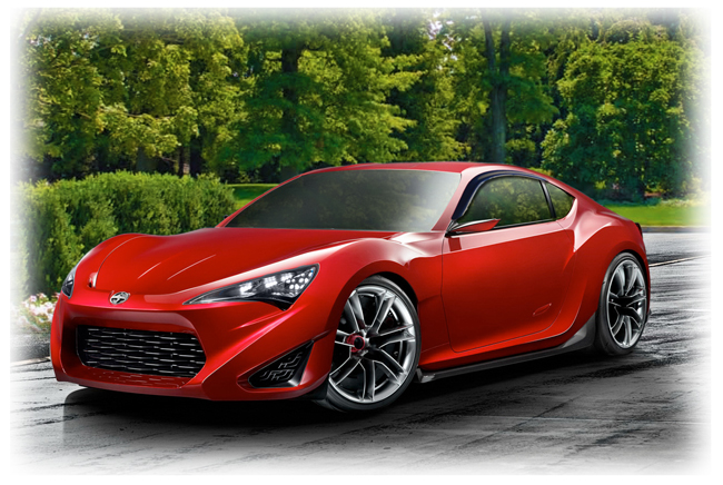 C&C CarWorx set of two Tape-On Outside-Mount Window Visor Rain Guards to fit 2013-14-15-16 Toyota Scion FR-S models