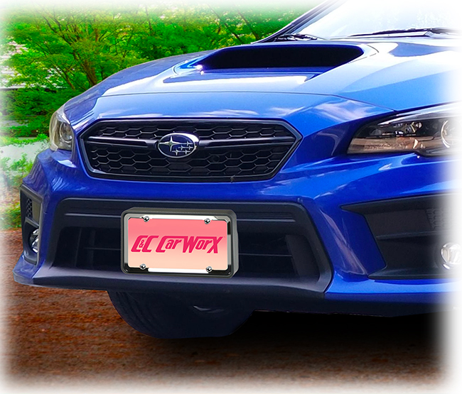 Front License Bracket to fit the 2018-2019 Subaru Impreza WRX & STI by C&C CarWorx