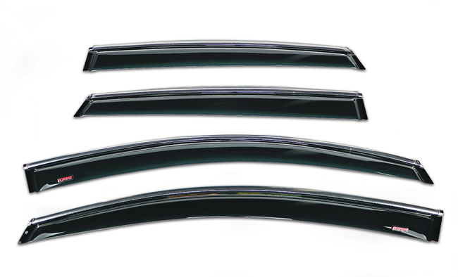Shown: Set of Four WV-09V-TF Tape-On Outside-Mount Window Visor Rain Guards to fit 2009-15 Toyota  Venza