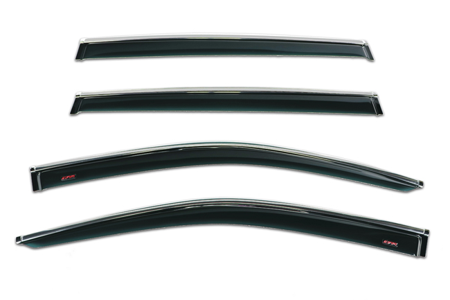 Shown: Set of Four WV-14H-TF Tape-On Outside-Mount Window Visor Rain Guards to fit 2014-17 Toyota  Highlander