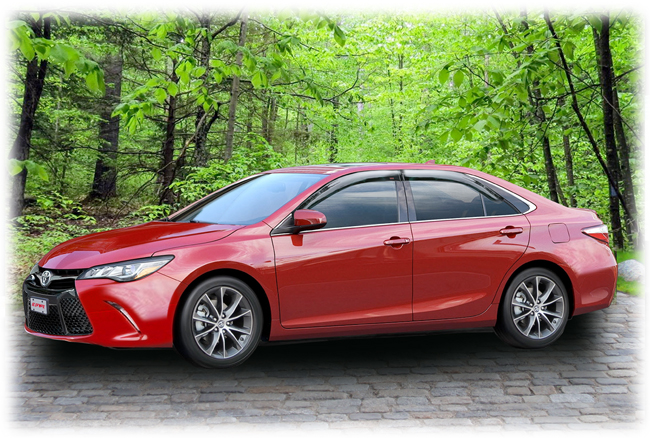 Camry owners appreciate the tasteful enhancement these visors contribute to the car's overall appeal.