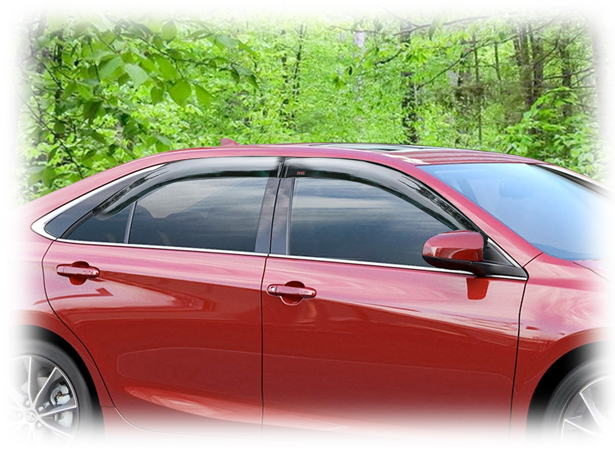 Window Visor Rain Guards For 2015 2016 2017 Toyota Camry Set Of Four One For Each Window Wv 15c Tf