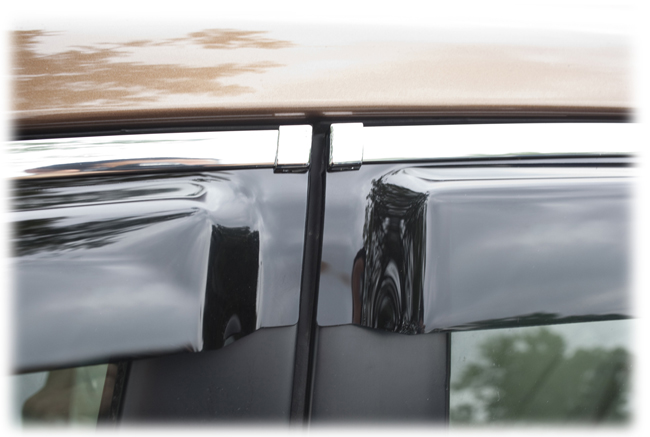 Customer testimonials confirm overwhelming satisfaction with the window visor rain guards by C&C CarWorx to fit 2010-11-12-13-14 Subaru Legacy Sedan
