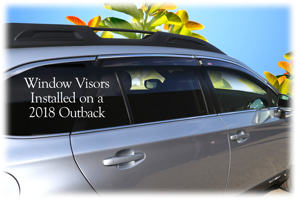 Tape-On Outside-Mount Perfect Fit® Window Visors to match