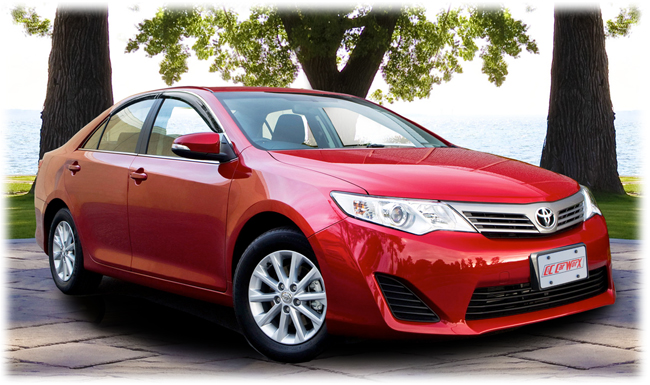 C&C CarWorx set of four Tape-On Outside-Mount Window Visor Rain Guards to fit 2012-13-14 Toyota  Camry models