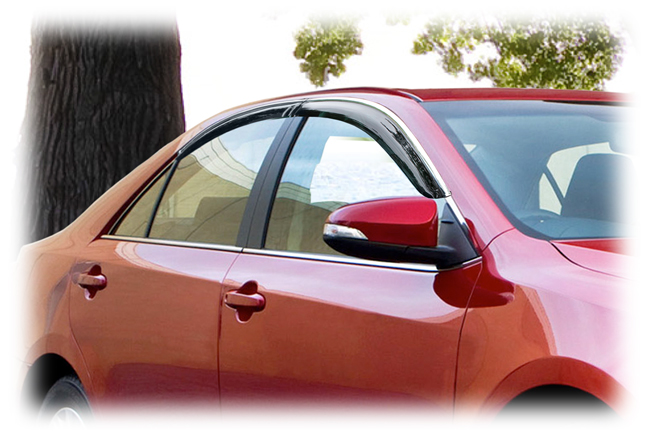 Customer testimonials confirm overwhelming satisfaction with the C&C CarWorx set of four Tape-On Outside-Mount Window Visor Rain Guards to fit 2012-13-14 Toyota  Camry models