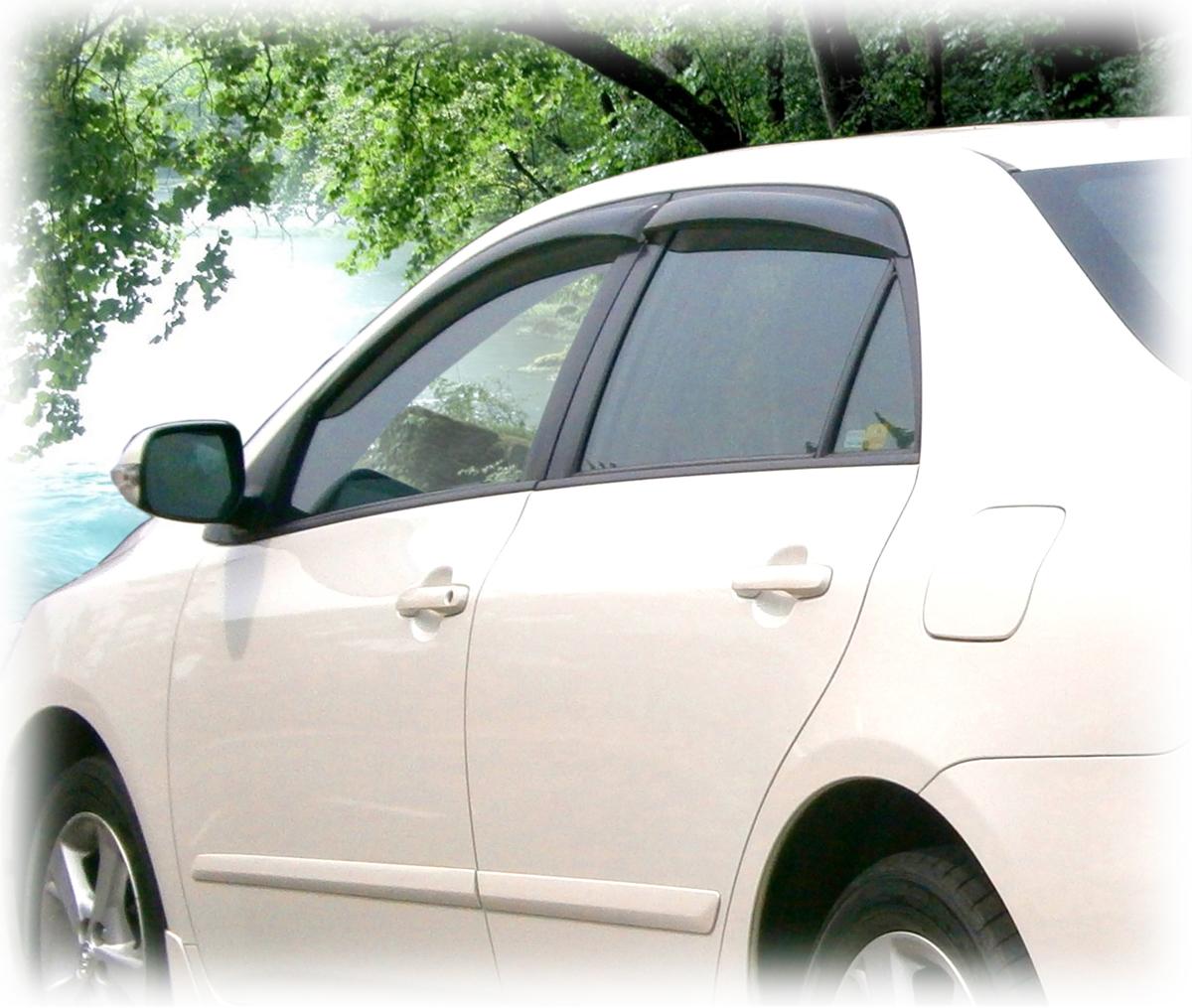 Window Visor Rain Guards To Fit Toyota Corolla Years 2014