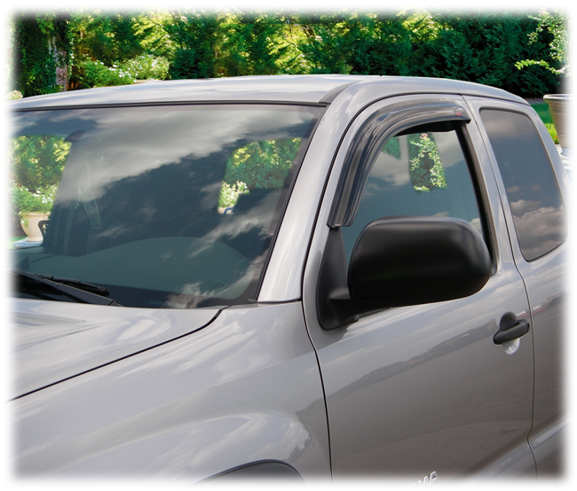 Customer testimonials confirm overwhelming satisfaction with the C&C CarWorx set of two tape-on Window Visor Rain Guards to fit 2005-06-07-08-09-10-11-12-13-14-15-16 Toyota Tacoma Access Cab models