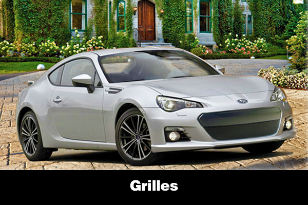 Shown is the 2013 BRZ with the sleek new lower sport grille