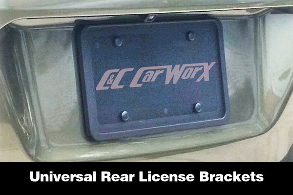 Shown is a Rear License Plate Bracket to fit any vehicle