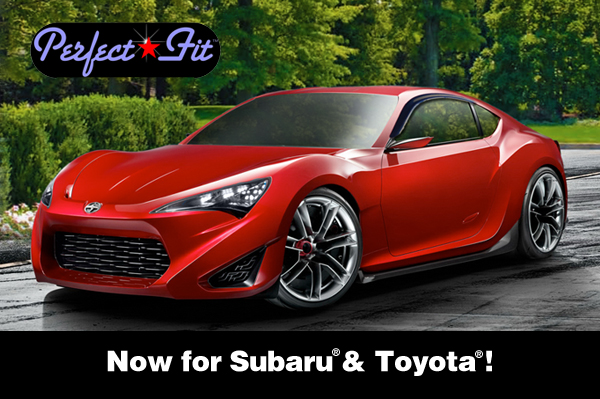 Shown are Perfect-Fit® Window Visor Rain Guards on a Toyota Scion