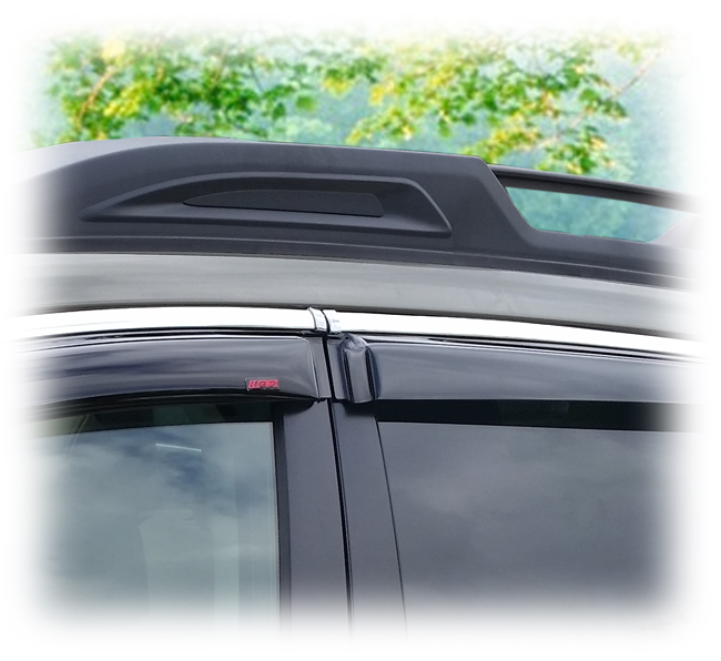 Tape On Perfect Fit 174 Window Visors To Match Oem Chrome