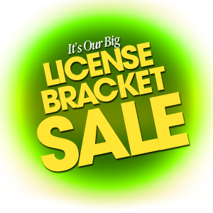 License Bracket Sale