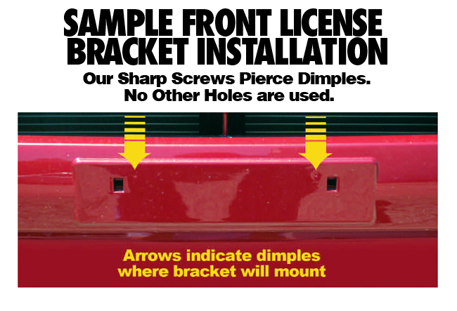 Sample_Installation_Front License Bracket to fit your model of Subaru  by C&C CarWorx