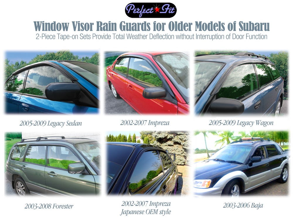 Get more info on the Perfect-Fit ® Rain Guards for: