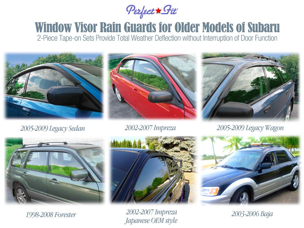 Window Visor Rain Guards For 1998 1999 2000 2001 2002