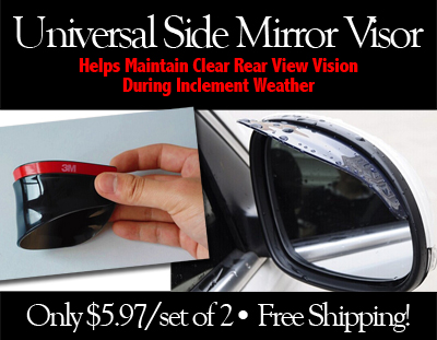 Universal Side Mirror Safe-Driving Rain Visor